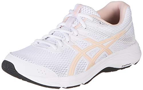 Asics Gel-Contend 6, Walking Shoe Unisex Adulto, White/Breeze, 32/32.5 EU