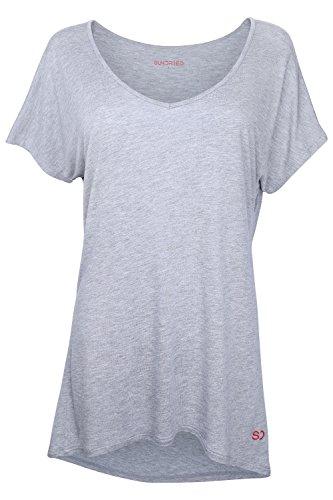 Sundried Camiseta Holgada para Mujeres para Deporte Yoga Gimnasio Entrenamientos de Ethical Activewear Designer Relajante Cómoda Holgada Extra Suave (Medium)