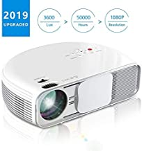 Projector, COFUN CL760 3600 Lux Full HD Led Video Projector Support 1080P for Games/Movies/Home Cinema, Compatible with Fire TV Stick,DVD,PC/Laptop,PS4 by HDMI USB AV VGA, Free HDMI Cable