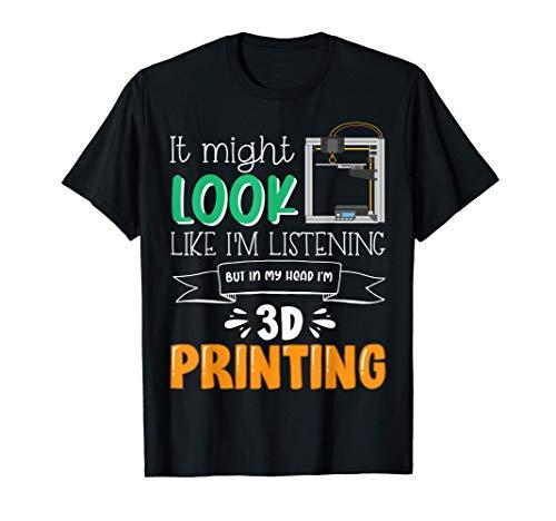 Divertente progetto di stampante 3D per papà e nonno Maglietta