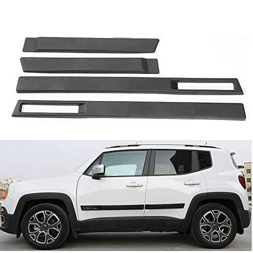 L&U ABS Cuerpo Lateral moldura de la Puerta Ajuste de la Cubierta del Protector de moldeo Kit Car Styling Molduras para Jeep Renegade 2016+