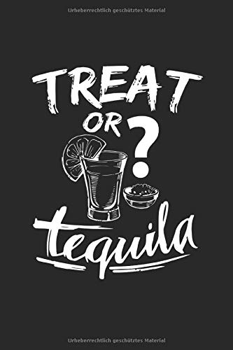 Notizbuch: Halloween Party Tequila Alkohol Kostüm Geschenke 120 Seiten, 6X9 (Ca. A5), Punktraster