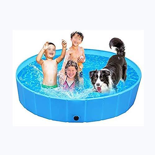 CWW Piscina Hinchable Lavabo Plegable PVC Antideslizante Fácil De Limpiar, Piscinas Automontable Inflables, para Perros Gatos Animales Niños Exteriores O Interiores,120 * 30cm
