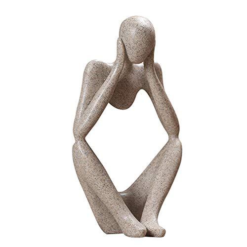 kangOnline - Figura decorativa de personaje abstracto de color sólido, figura de pensador para decoración de la oficina del hogar