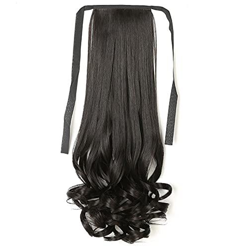 Extension per capelli per donneCoda di cavallo parrucca pera fiore fascia estensione dei capelli lunga ad alta temperatura fibra coda di cavallo capelli per donna