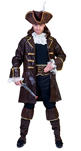 Funny Fashion Costume da Pirata Capitan uncino Uomo