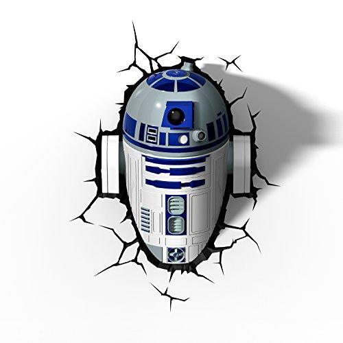 Star Wars 3D Night Light R2D2 LED Lamp 3DLightFX Battery Operated