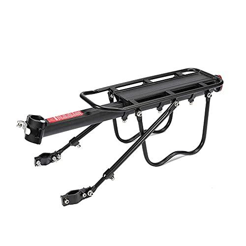Tallador de bicicleta trasero, soporte de asiento trasero de la bicicleta de montaña ajustable con reflector, equipo de soporte de equipaje de pie, herramientas de portador de equipaje, para ciclismo