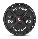 Ziruixiong Wanduhr Gewichtheben Hantel Bodybuilding Wanduhr Gym Workout Strongman Geschenk30 X...