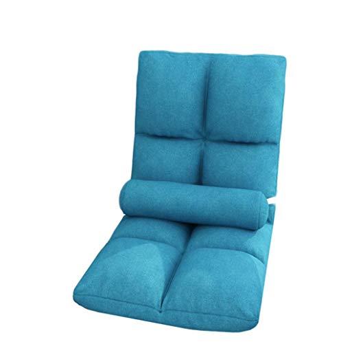 TXXM Lazy Sofa Freizeit Faltbarer Einzellehner Schlafsaal Schlafzimmer Bett Computer Stuhl (Farbe: D)