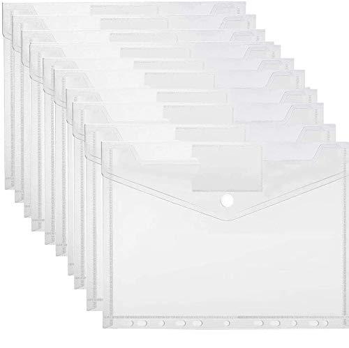 20 Stück Dokumententasche A4 zum Abheften,A4 Dokumententasche Sichttaschen,Dokumententasche mit Klettverschluss A4,Dokumententasche A4 Transparent,Dokument Organisieren (A)
