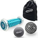 SUNANTH Foot Massager Roller,Massage Lacrosse Ball,Spiky Ball Therapy Set for Relieve Plantar Fasciitis,Heel