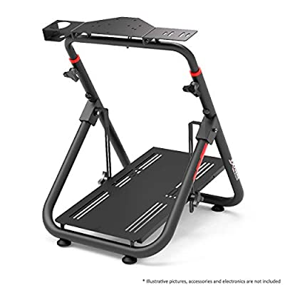 Extreme Sim Racing Wheel Stand Cockpit SXT V2 Racing Simulator - Black Edition For Logitech G25, G27, G29, G920, Thrustmaster And Fanatec - Heavy Dutty and Foldable