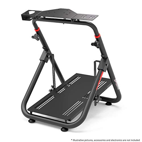 Extreme Sim Racing Wheel Stand Cockpit SXT V2 Racing Simulator - Racing Wheel Stand Black Edition For Logitech G25, G27, G29, G920, Thrustmaster And Fanatec - Heavy Dutty and Foldable