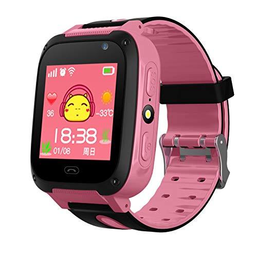 ZTYY Kinder Global Smartphone Meter Uhr Fotografie LED Blinkabstand Positionieren SOS Russische SIM-Karte Kinder Smartwatch-Uhr (Color : Pink, Size : Russian)