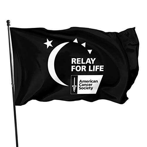 Relay For Life Colorfast Uv Resistant Yard Flag Fade Resistant Boat Flag For Spring Outing Flag 3x5 Use