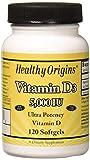 Healthy Origins - Vitamina D3 5000 IU - 120Cápsulas blandas