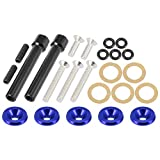 X AUTOHAUX Low Profile Engine Valve Cover Washer Bolt Kit Blue for Acura for Honda D-Series Engines D15 D16