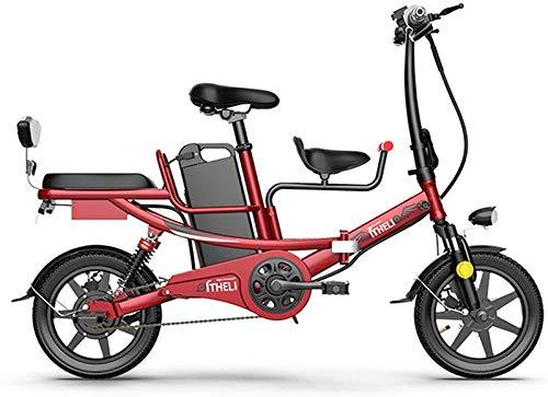 Bicicletas Eléctricas, 14 En bicicleta plegable eléctrico for adultos con 400w 48v 8A batería de litio E-bici con el choque múltiple de absorción Sistema de acero de alto carbono Scooter eléctrico ade