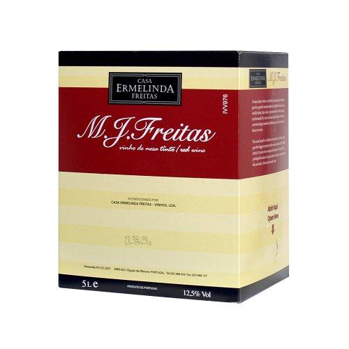 M.J.Freitas, Vinho de Mesa Tinto, 5 Liter (Rotwein aus Portugal, Vinho de Mesa) Castelao Frances