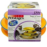 Petstages Tower of Tracks Cat Toy – 3 Levels of Interactive Play – Circle Track with Moving...