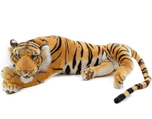 BRUBAKER peluche tigre de color marrón de 60 cm