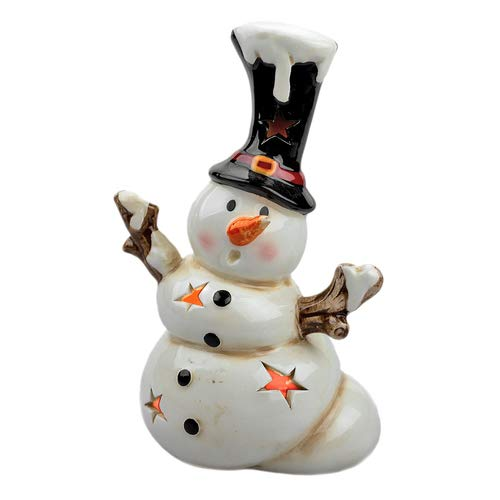 LED Schneemann Olaf, LED Windlicht, Weihnachten, LED Figur Winter