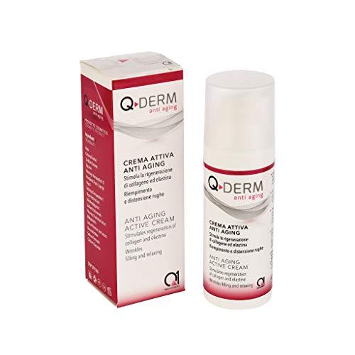 Q-DERM ANTI AGING Crème active anti-âge pour le visage et les mains - Idéale pour les rides, la peau marquée et la peau âgée