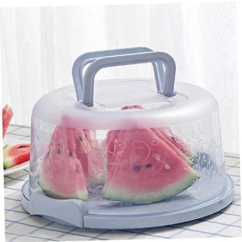 Heall Tragbare Kuchen und Kuchen-Fördermaschine mit Handgriff Vorratsbehälter Perfekt für den Transport von Kuchen Kuchen Torten oder andere Desserts-Light Blue