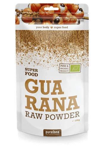 Purasana - Super Food - Poudre de Guarana - 100 gramme - 100% biologiques de qualité
