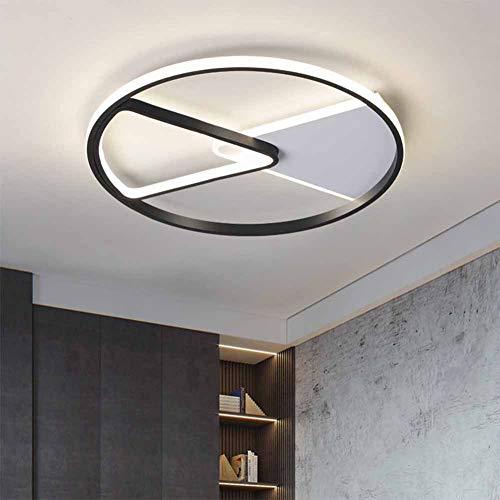 SANTITY LED Lámpara de Techo Moderno Diseño de Sala de Estar Dormitorio Plafón de Techo Metal Triangular 4000K Blanco Neutro Ultra Cocina Balcón Loft Interior Iluminación