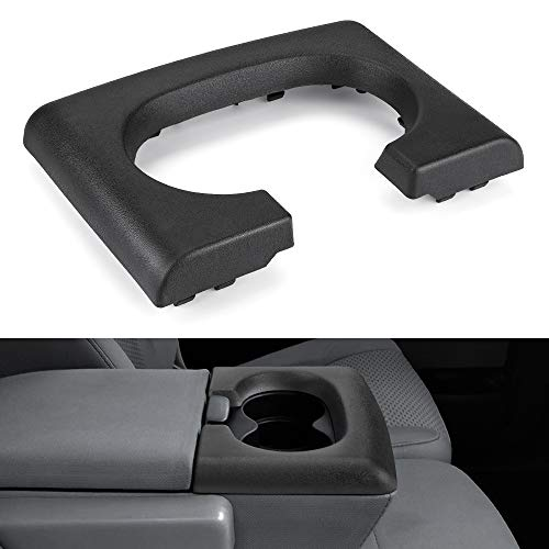 JoyTutus Center Console Cup Holder Replacement Pad Black Compatible with Ford F-150 2004-2014, Bench Seat F150 Center Console Parts Replacement for Ford F150 Accessories(Black)