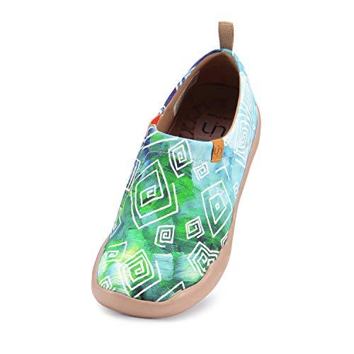 UIN Damen lieben im Frühjahr Canvas Loafer Schuh grün(40)