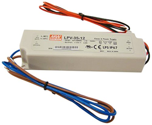 (LPV-35-12) - Mean Well LPV-35-12 Power Supply / LED Driver 90-264 VAC Input 35W 3A 12V Output