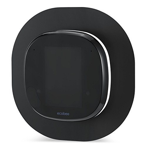 Sophisticated Aluminium-Alloy Metal Wall Plate for ECOBEE 4 Smart Wi-Fi Thermostat by Wasserstein (Black)