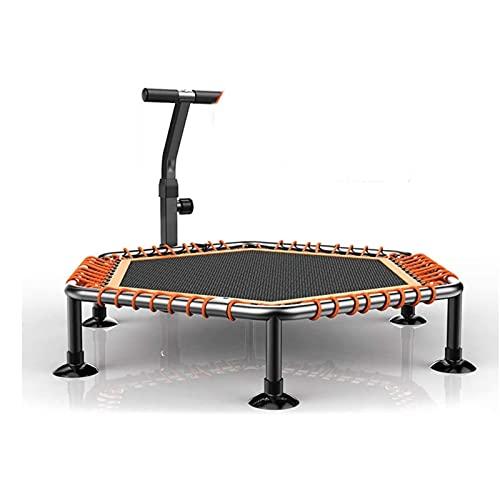HYDT Portátil Plegable para Adultos en Altura de trampolín Ajustable trampolín Mini Gimnasia trampolín con reposabrazos adecuados para Deportes Interiores y Exteriores