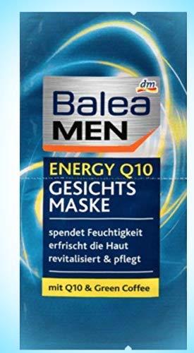 Balea MEN energy Q10 Gesichtsmaske Für eine vitale Ausstrahlung und ein gepflegtes Hautgefühl, 5er Pack (5 x 2 x 8 ml)