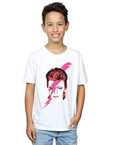 David Bowie Boys Aladdin Sane Lightning Bolt T-Shirt 5-6 Years White