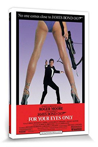 1art1 James Bond 007 - Solo per I Tuoi Occhi Stampa su Tela (120 x 80cm)