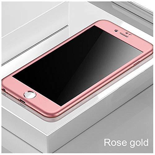 TGBS Funda para teléfono Cobertura Completa 360 para iPhone 7 6 6s 8 Plus 5 5S SE Funda para el iPhone 7 Protectora 8 Plus 11 Pro XS Carcasa para MAX XR con Vidrio