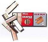 Zande Phondex Caja de Grapas de 24/6-22/6, Pack de 18000 Grapas