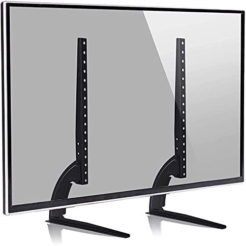 GWDFSU Soporte de TV de sobremesa Universal Patas de TV para la mayoría de televisores de 40-65 Pulgadas con Ajuste de Altura MAX 400Mm X 600Mm Sostiene 35KG MAX