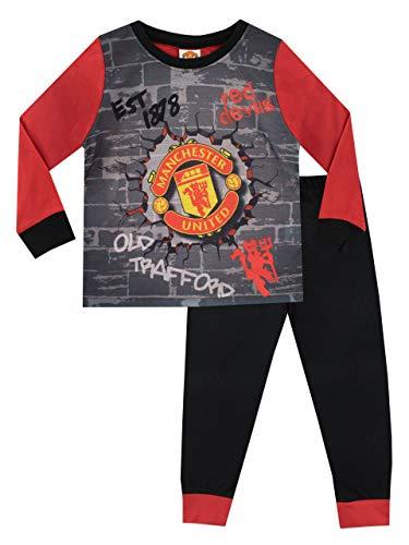 Manchester United Pijama para Niños Football Club Multicolore 9-10 Años