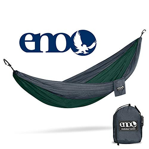 ENO - Eagles Nest Outfitters DoubleNest Lightweight Camping Hammock, 1 to 2 Person, Forest/Charcoal