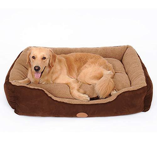SXXYXH Hundebett Hundekörbchen Cord SHU-Baumwolle PP-Baumwolle Das Ganze Nest Kann Geöffnet Und Gewaschen Werden Atmungsaktiv Und Warm 5 Größen Zur Auswahl,L