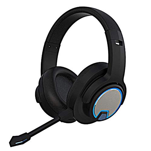ACEMIC Wireless Stereo Gaming Headset with mic, with Noise Cancellation, Long Lasting Battery Up to 100 Hours, Comfortable Memory Foam,Over Ear Headphones for PS4, Xbox, Nintendo Switch, PC,Blue