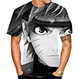 Camisetas,Camiseta Unisex De Manga Corta De Anime Ninja Sasuke Transpirable Suave Color 3 Mezcla De Colores XXL