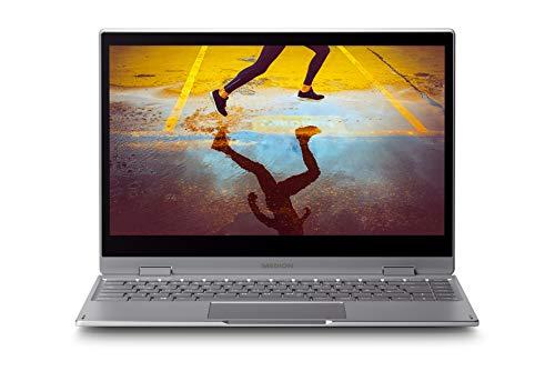 "MEDION S4401 - Portátil convertible 14\"" FullHD (Intel Core i3-8130U, 8GB RAM, 256GB SSD, Intel UHD Graphics 620, Windows 10), Color Gris - Teclado QWERTY Español"