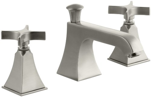 Hot Sale KOHLER K-454-3S-BN Memoirs Widespread Lavatory Faucet with Stately Design, Vibrant Brushed Nickel