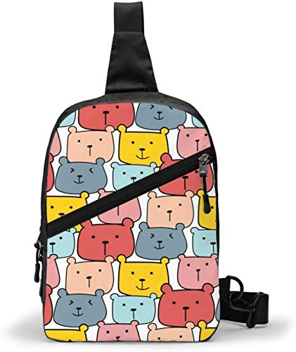 Cute Bears Vector Sling Bag,Crossbody hombro al aire libre...